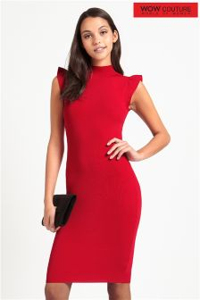 Wow Couture Flutter Sleeve Cutout Dress