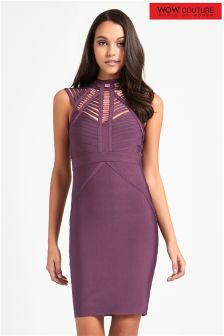 Wow Couture Strappy Cap Sleeve Bandage Dress