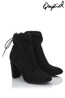 Qupid Stretch Suedette Ankle Boots