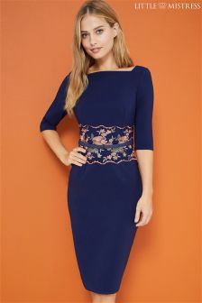 Little Mistress Midi Embroidered Dress