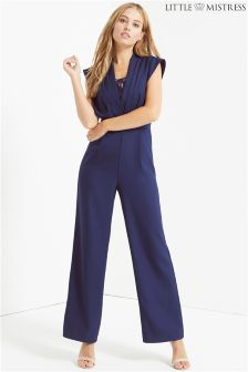 Little Mistress Pleated Bust Design Lace Jumpsuit