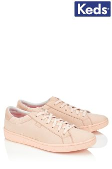Keds Pale Peach Leather Trainers