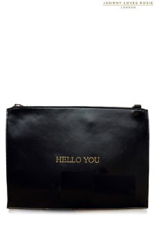 Johnny Loves Rosie Hello You Clutch Bag