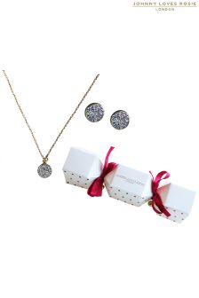 Johnny Loves Rosie Polka Necklace Set Cracker