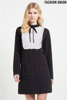 Fashion Union Patchwork Print Dress