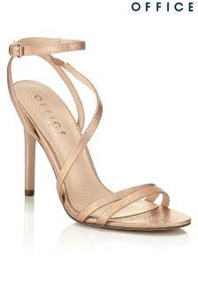 Office Glitter Strappy Heeled Sandals
