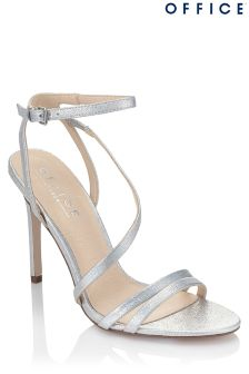 Office Glitter Strappy Sandals