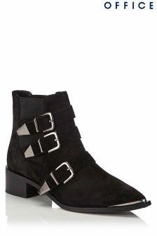 Office 3 Buckle Suede Boots