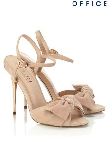 Office Bow Twist Heeled Sandals