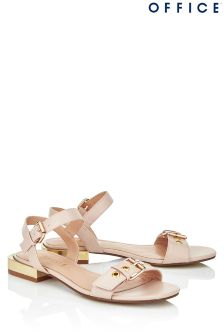 Office Buckle Metal Sandals