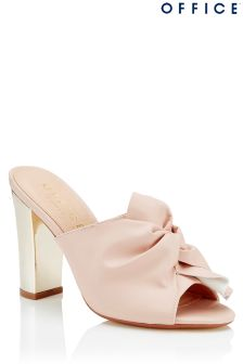 Office Metallic Heel Knot Front Mules