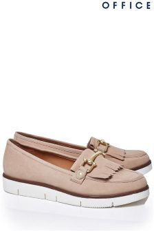 Office Nude Patent Loafers