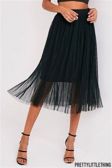 PrettyLittleThing Pleated Midi Skirt