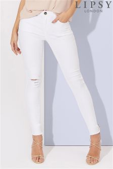 Buy Women's Jeans White Ripped/Distressed from the Next UK online shop