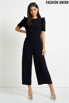 Fashion Union Frill Sleeve Jumpsuit