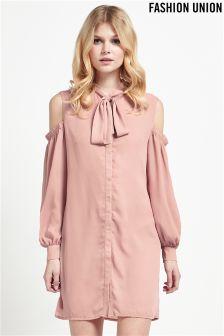 Fashion Union Cold Shoulder Mini Dress