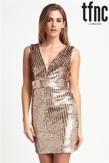 tfnc V neck Sequin Mini Dress