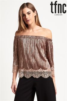 tfnc Pleated Off Shoulder Top