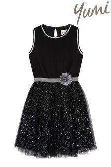 Yumi Girl Sparkle Flower Prom Dress