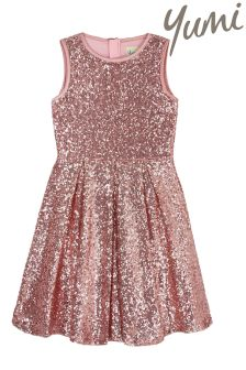 Yumi Girl Sequin Skater Dress