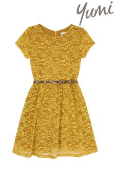 Yumi Girl Floral Lace Skater Dress