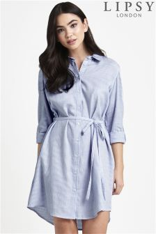 Lipsy Stripe Shirt Dress