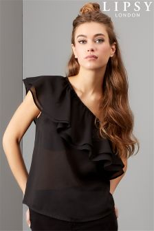 Lipsy One Shoulder Ruffle Top