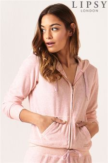 Lipsy Logo Marl Zip Through Hoody