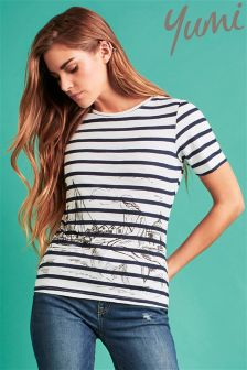 Yumi Scandi Sketch Stripe T-shirt