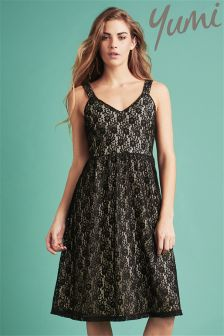 Yumi Strappy Lace Occasion Dress