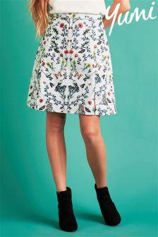 Yumi Floral Skater Skirt