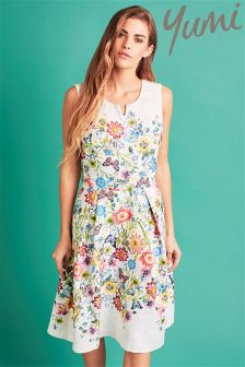 Yumi Floral Sleeveless Occasion Dress