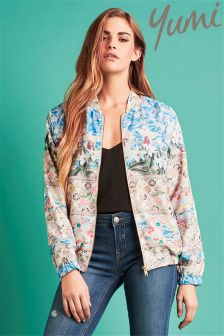 Yumi Floral Bomber Jacket