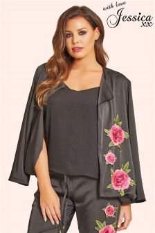 Jessica Wright Embellished Satin Jacket