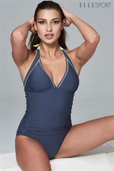 Elle Sport Mesh Detail Tummy Contro Tankini