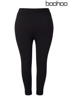 Boohoo Plus Stretch Crepe Trousers