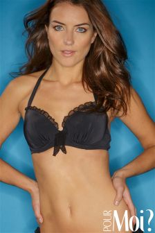 Pour Moi Mesh It Up Padded Underwired Bikini Top