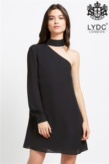 LYDC One Shoulder Choker Dress