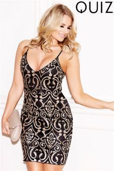 Quiz Glitter Strappy Bodycon Dress