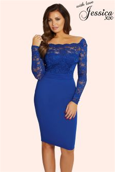 Jessica Wright Bardot Lace Bodycon Dress