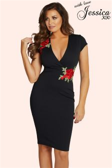 Jessica Wright Floral Embroidered Bodycon Dress