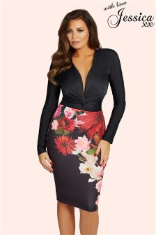 Jessica Wright Floral Pencil Skirt
