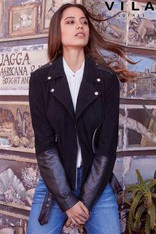 Vila Biker Leather Jacket