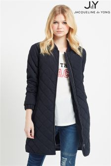 JDY Long Quilted Jacket