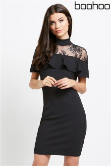 Boohoo Lace Panel Dress