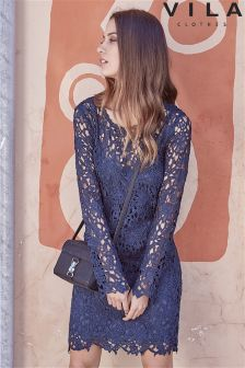 Vila All Over Lace Dress