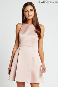 BCBGeneration Satin Skater Dress