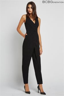 BCBGeneration Plung Neck Jumpsuit
