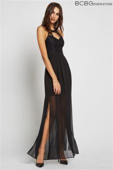 BCBGeneration Lace Maxi Evening Dress