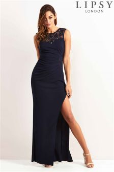 Lipsy Side Lace Panel Maxi Dress